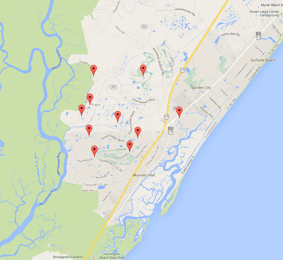 Collins creek landing homes murrells inlet real estate for Murrells inlet sc fishing